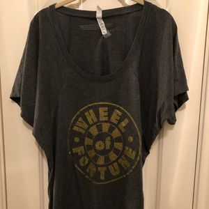 Women's 2XL Wheel Of Fortune Gray T-Shirt